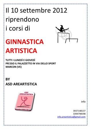 GINNASTICA ARTISTICA Locandina 001